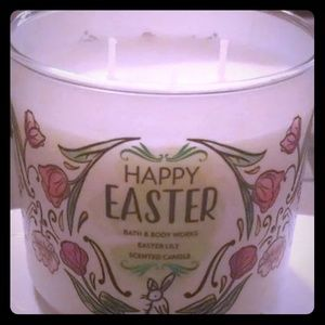 Happy Easter Lily candle